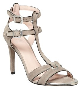 Stuart Weitzman Accent Heels Grey Gray Fossil Pumps