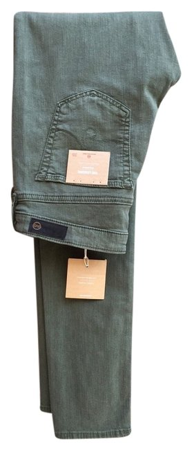 Item - Green Medium Wash The Legging Olive Denim Rare Skinny Jeans Size 30 (6, M)