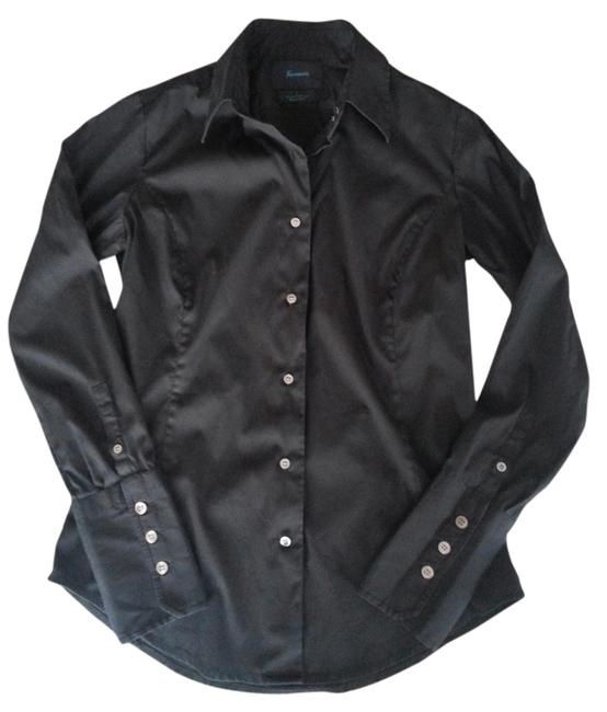Faonnable Button Down Shirt Black