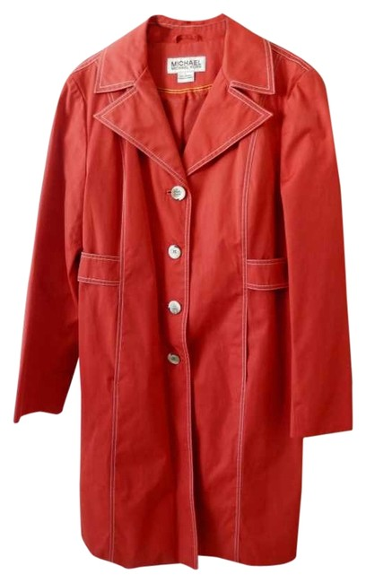 Item - Red-orange Trench Coat Size 12 (L)