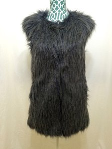 Romeo & Juliet Couture Blue Faux Fur Vest