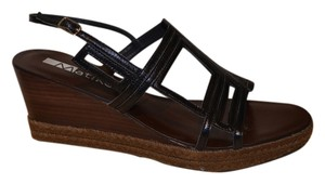 Matiko Leather Wedge BLACK Sandals