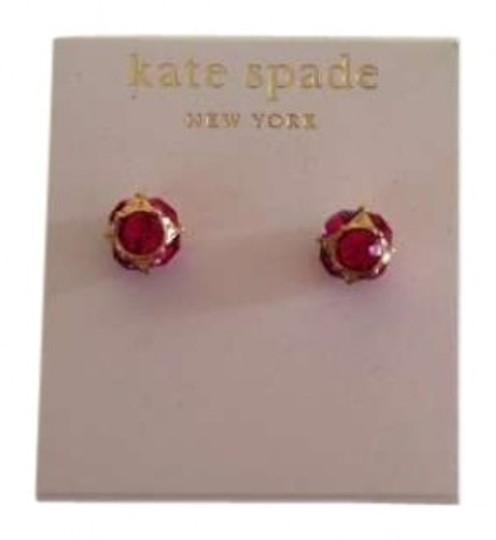 Preload https://img-static.tradesy.com/item/137591/kate-spade-gold-plated-with-pink-crystals-new-york-lady-marmalade-stud-earrings-0-0-540-540.jpg