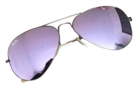 3ef41bbf6ca9 Ray-Ban Ray-Ban Aviator Flash Lenses in Lilac Mirror RB3025 167 4K ...