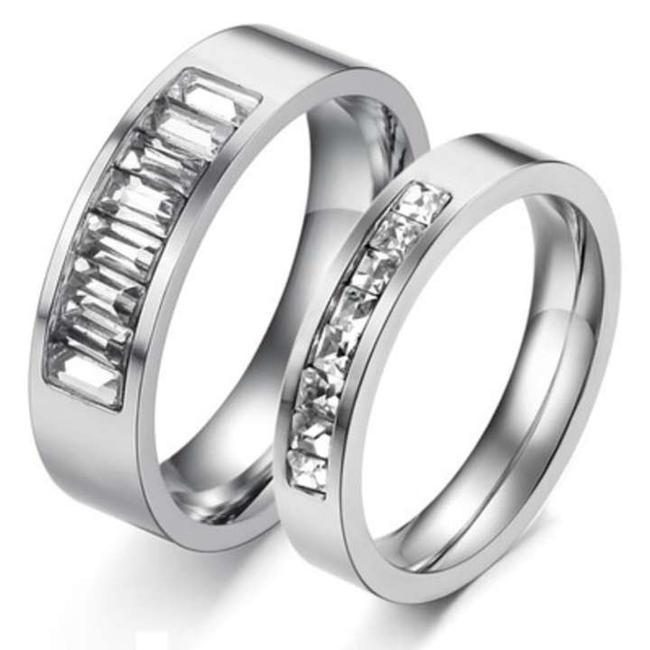 Item - Silver Reduced 2pc Matching Titanium Steel Free Shipping Men's Wedding Band