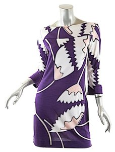 Diane von Furstenberg short dress Purple White Multi Color Gurtenberg on Tradesy