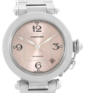Cartier Cartier Pasha Pink Dial Stainless Steel Women's Watch W31075M7