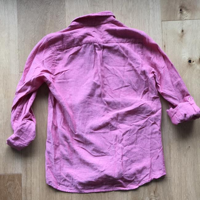 Topshop Button Down Shirt Red Image 5