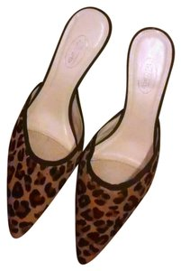 Talbots Pointed Toe Leopard Heels Black & Brown Pumps
