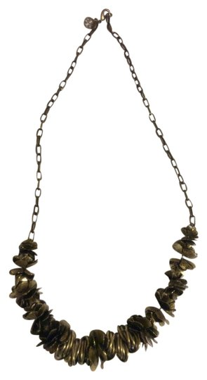 Tory Burch flower rustic gold necklace