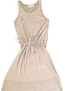 Vince Camuto short dress beige with gray stripes on Tradesy