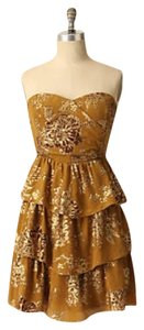 Anthropologie Vintage Tiered Sweetheart Flouncy Party Dress