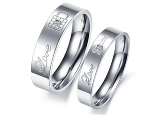 Silver Bogo 2pc Couples Matching Ring Free Shipping Jewelry Set