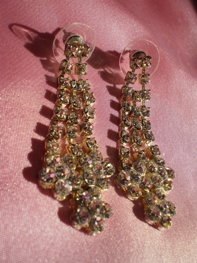 Other Like New Rhinestone pierced earrings