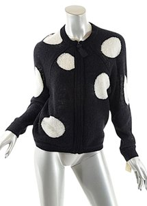 3.1 Phillip Lim Polka Dots Zip Cardigan