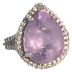 Other Sterling 925 Amethyst/Diamond ring