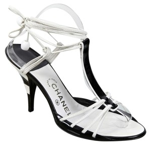 Chanel Black, White Sandals