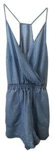 Topshop Petitie Size 0 Romper Denim Dress