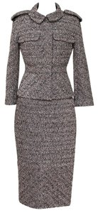 Chanel Chanel Jacket Skirt Suit Tweed Outfit 2PC Classic Coat 13B