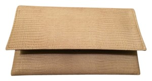 SHENGXILU Beige and Gold Clutch