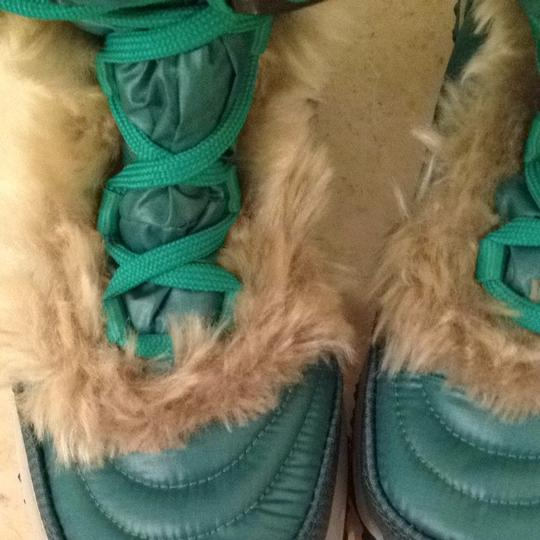 The North Face Faux Fur Green Boots