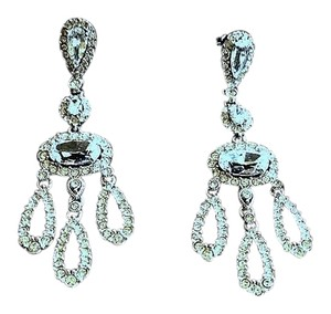 Adriana Orsini Designer Crystal and Cubic Zirconia Chandelier Earrings
