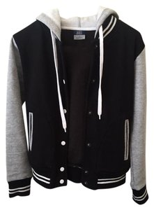 MV Sport Varsity Hoodie Black/Gray Jacket