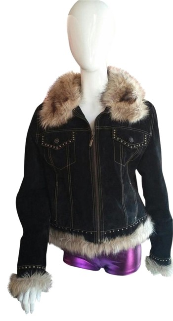 Preload https://item3.tradesy.com/images/giacca-suede-studded-faux-fur-black-leather-jacket-1376397-0-1.jpg?width=400&height=650