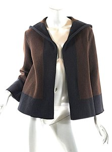 Ralph Lauren Collection Cashmere Hoodie Black & Brown Jacket
