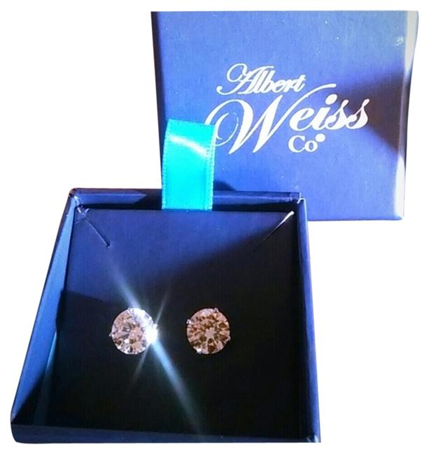 Item - Silver Co Stimulated Diamond 8mm Earrings