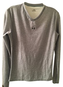 Under Armour Fitted Long Sleeved T Shirt Heather Gray