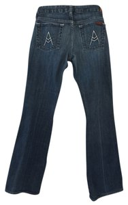 7 For All Mankind A Pocket Boot Cut Jeans-Dark Rinse