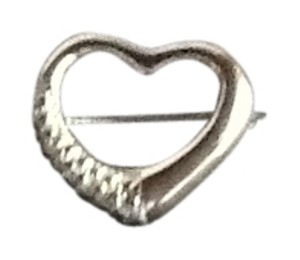 Other Silver Medium Heart Style Brooch.