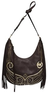 Michael Kors Fringe Leather Stud Mk Shoulder Bag