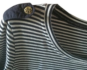 Tory Burch Top Striped navy and white