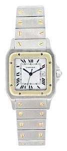 Cartier Cartier Two-Tone Santos White Dial Watch 1567