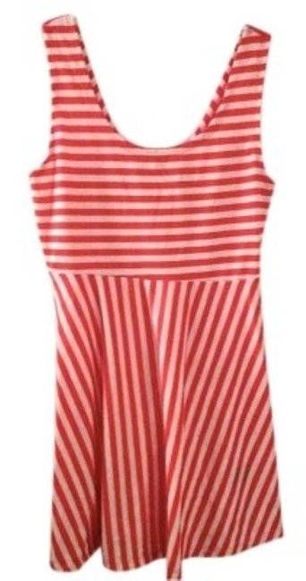 Preload https://item1.tradesy.com/images/papaya-pink-and-white-striped-babydoll-mini-short-casual-dress-size-12-l-137650-0-0.jpg?width=400&height=650