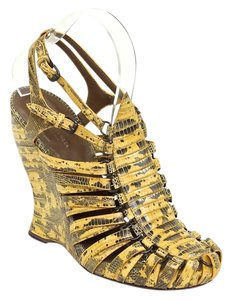 Bottega Veneta Yellow, Brown Wedges
