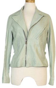 Ralph Lauren Leather mint green Leather Jacket