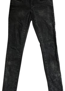 Blank Denim Studded Acid Wash Black Skinny Jeans-Acid