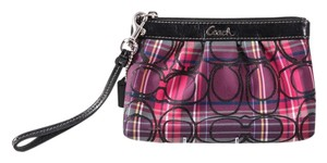 Coach Plaid Wristlet in Multi