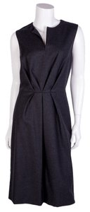 Oscar de la Renta short dress Charcoal on Tradesy