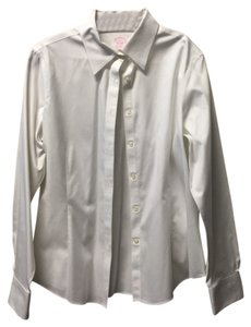 Brooks Brothers Blouse Dress Shirt Work Non-iron Tailored Fit Button Down Shirt White