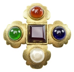Chanel Chanel Vintage Oversized Gripoix Multicolored Brooch