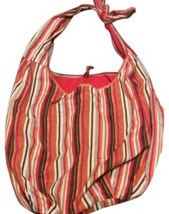 Old Navy Reversible Tote Striped red and orange Beach Bag
