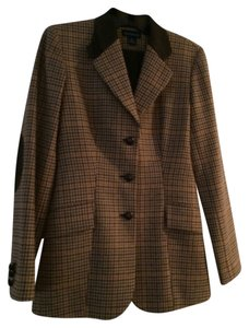 Ann Taylor Brown multi Blazer
