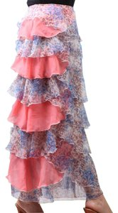 Other Layer Ruffle Maxi Skirt Multi Color