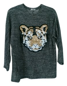 Pull&Bear Tiger Sequin Knit Sweater
