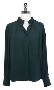 Chloe Silk Top Green