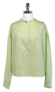 Diane von Furstenberg Silk Top Pale Green